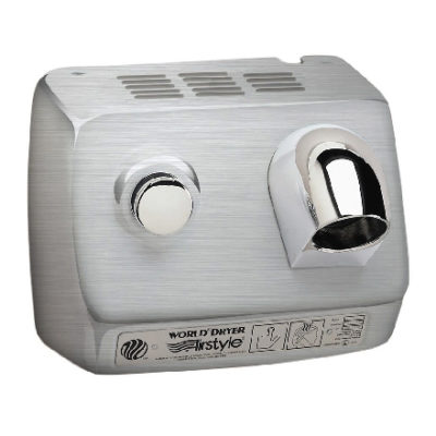 Airstyle Push-Button Hand Dryer-Brushed SS