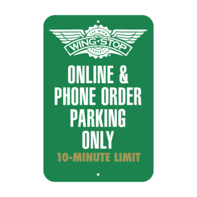 Wing Stop Parking Sign